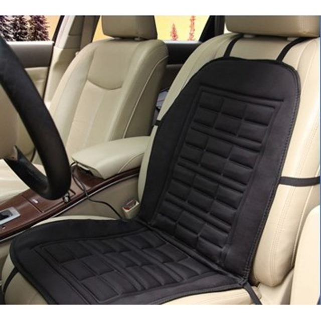 Car Winter Heated Cushion Front Covers Pad Seat Cushion Electric Heated Auto Interior Accessories Universal Conjoined Supplies