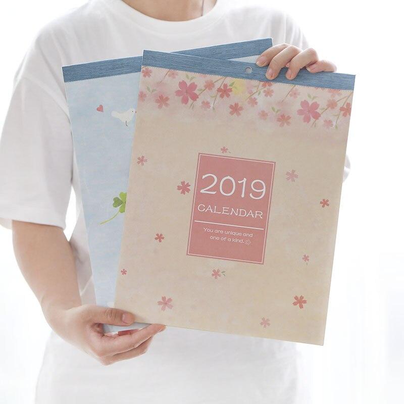 Calendario Da Parete Grande.Nuovo 2019 Creativo Sakura Grande Calendario Da Parete Agenda Organizer Calendario Programma Giornaliero Planner 2018 07 2019 12