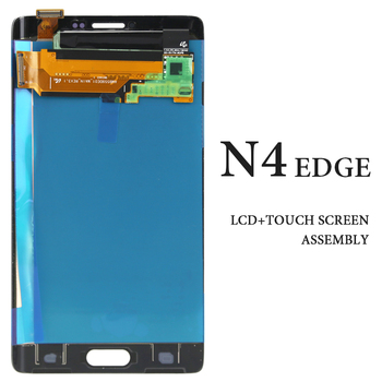 Original For Samsung Note 4 Edge N915 N9150 N915F LCD Display 5.6 Inch Gray White No Dead Pixel Touch Screen Digitizer
