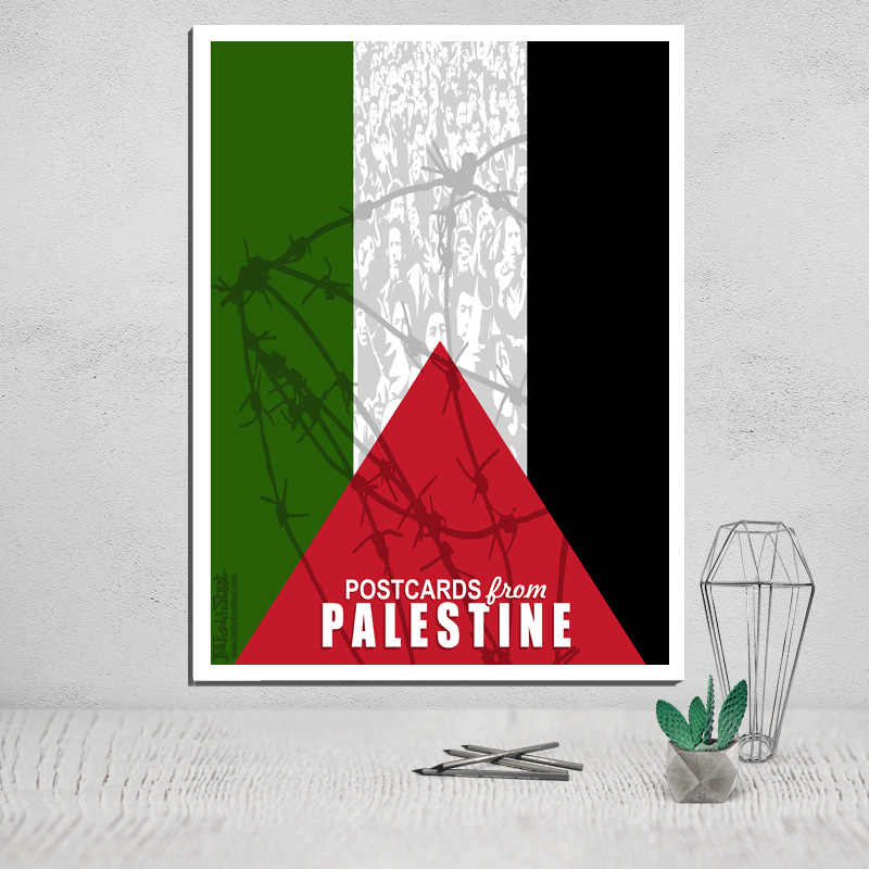 palestine canvas poster painting giclee art print Peace Holy Land Palestinian Keffiyeh OLP Picture Poster Swords into plowshares