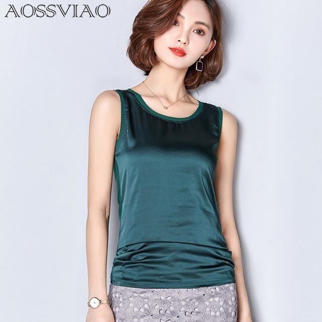 Summer women blouses 2017 new casual chiffon silk blouse slim sleeveless O-neck blusa feminina tops shirts solid 7 color S~2XL