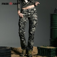 Free Army Brand Fashion New Military Style Camouflage Women S Pants High Quality Mid Waist Cargo