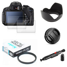 UV Filter + Lens Hood + Cap + Cleaning pen + Glass Screen Protector for SONY Alpha A6400 A6300 A6000 A5000 with 16-50mm lenses(China)