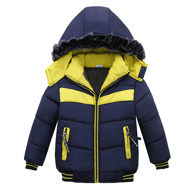 Baby Boys Winter Coat Children Hooded Jacket Kids Girls Patchwork Warm Outerwear Padded Clothes boys winter coat baby girls jacket kids warm outerwear children coat 2018 fashion spring children clothing girls hooded jacket