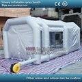 Cabine de pintura cabine de pintura cabine de pulverizador do carro inflável inflável inflável inflável oficina de pintura com ventiladores