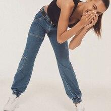 Шаровары, средняя талия, джинсы для мам, с карманами, джинсы для женщин в стиле бойфренд, уличный стиль, уличная одежда для женщин, летние джинсовые штаны