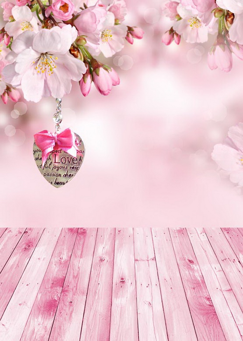 Custom vinyl love spring pink flowers scenic photography backdrops for wedding newborn photo studio portrait backgrounds S-618 8x10ft valentine s day photography pink love heart shape adult portrait backdrop d 7324