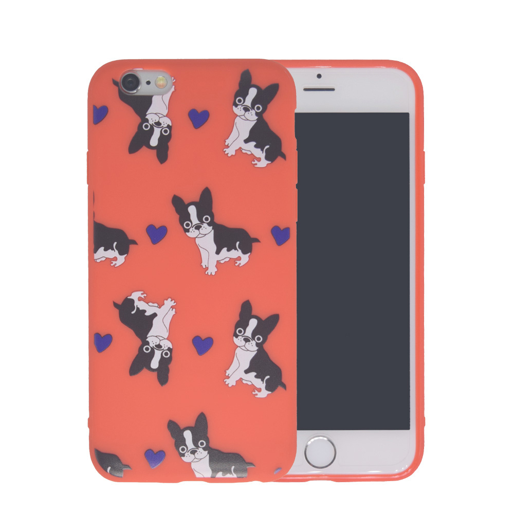 Ultra Thin French Bulldog Exquisite Printed Silicone Mobile Phone Bags Case For iPhone 5 5S SE 6 6S Plus Cute Dog Back Cover