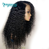 Curly Lace Front Human Hair Wigs For Black Women 13X6 Brazilian Lace Front Wigs Pre plucked With Baby Hair Remy Hair NYUWA Wigs