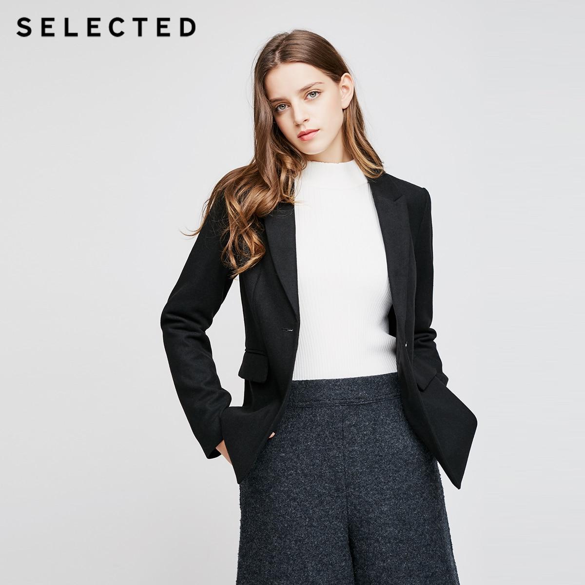 SÉLECTIONNÉ Slade contient tissu dame, d'affaires décontractée, solide couleur, simple costume Blazer S | 417408512
