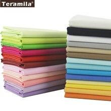 Teramila Tejidos de Algodón 25 Sólido Colores Encanto Paquetes Trimestre Grasa Metros de Textiles Para El Hogar ropa de Cama de Acolchado de Retazos de Ropa Artesanal