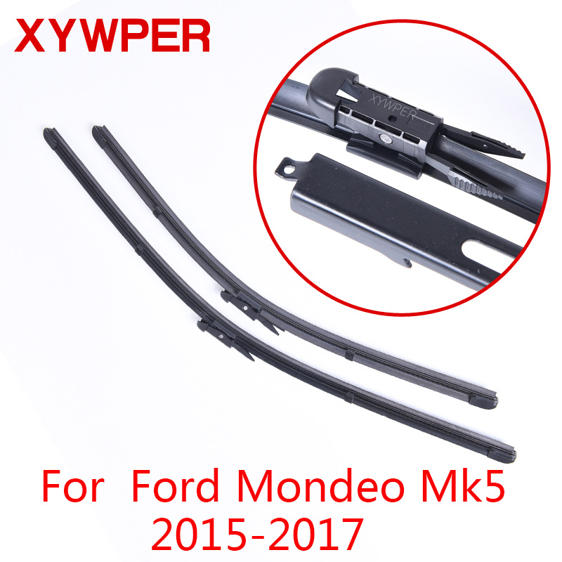 XYWPER Wiper Blades for Ford Mondeo MK5 2015 2016 2017 Car Accessories Soft Rubber Windshield Wipers wiper blades for ford s max 30
