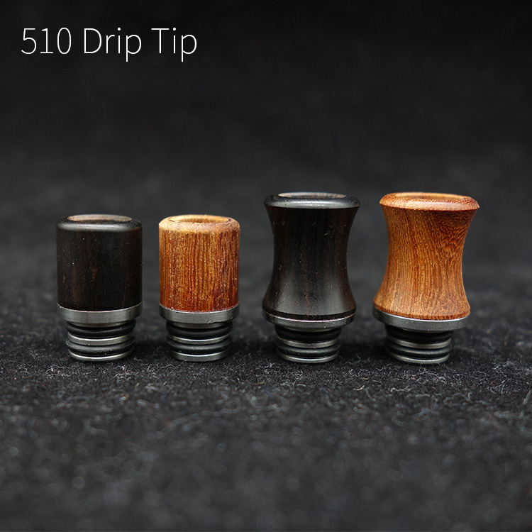 1pc wooden 510 drip tips ss metal material mouthpiece for ecig vape atomizer