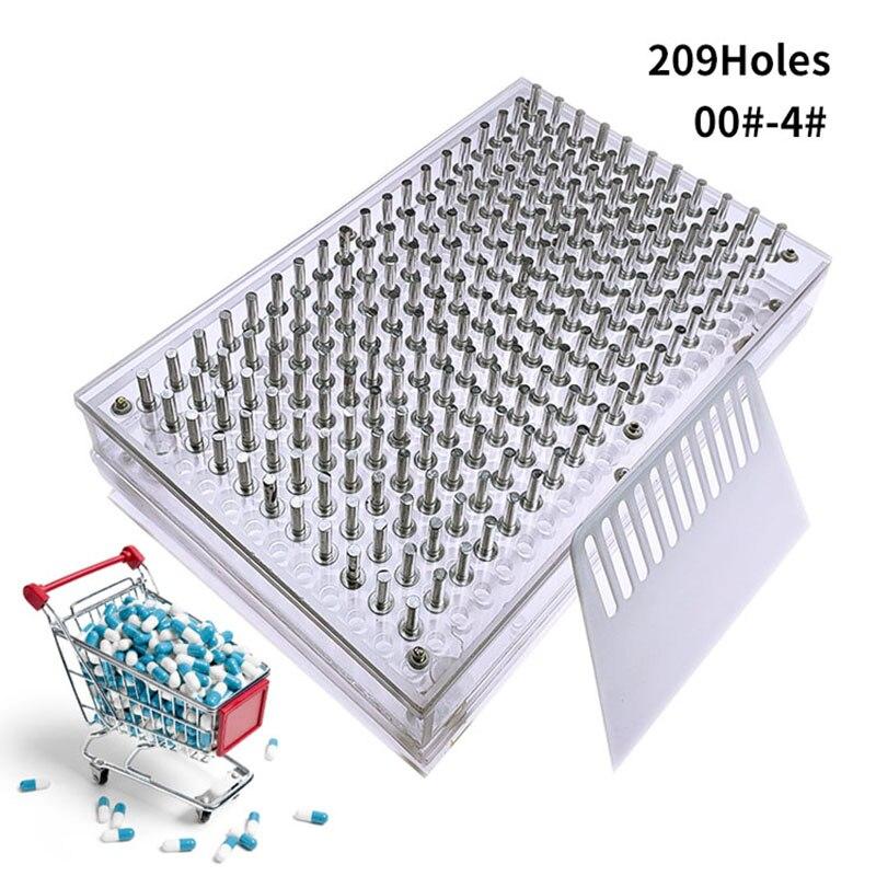 000 #00 #0 #-4 #209 plaque de remplissage de Capsule de trou/Machine de remplissage de Capsule Machine de remplissage manuelle de Capsule