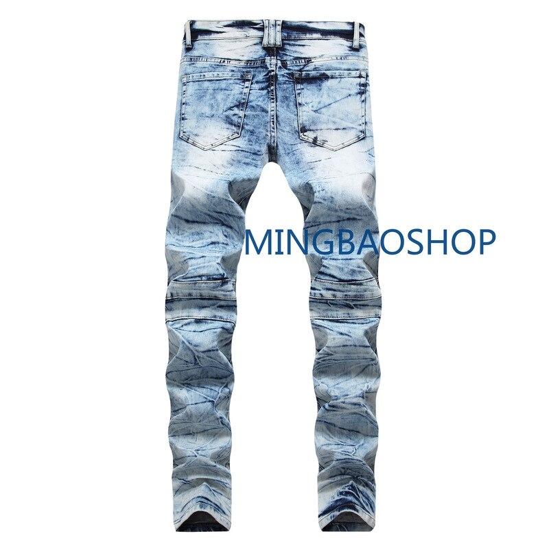 2019 designer Men's jeans high quality folding locomotives men's pants straight sleeves, men's pants jeans denim jeans men