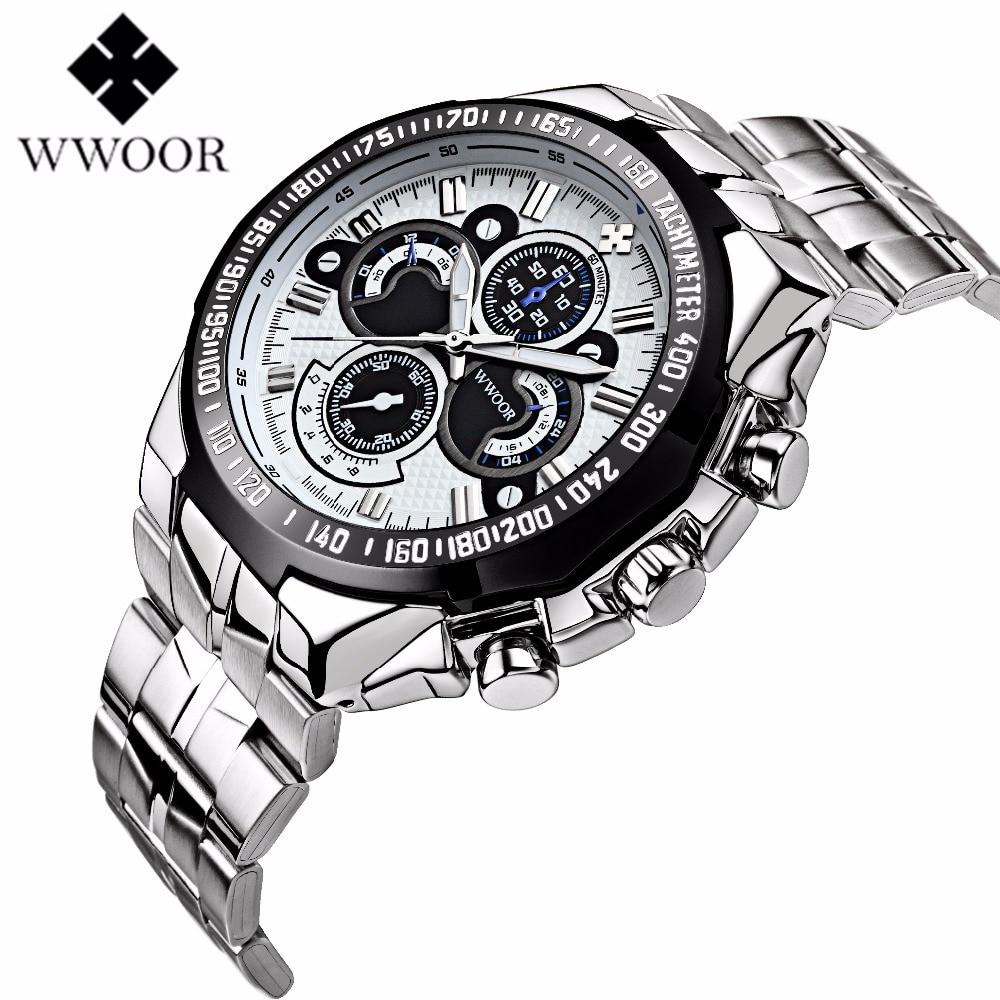 Famous Brand WWOOR De Luxo Male Watches Military Sports Watch Fashion Relogio Masculino Quartz Wristwatches Men Watches наматрасники bloom наматрасник luxo sleep 135x70