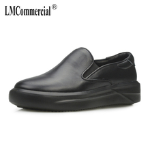 spring autumn Korean loafer leisure fashion shoes mens shoes genuine leather high top sneakers British retro all-match cowhide цена и фото