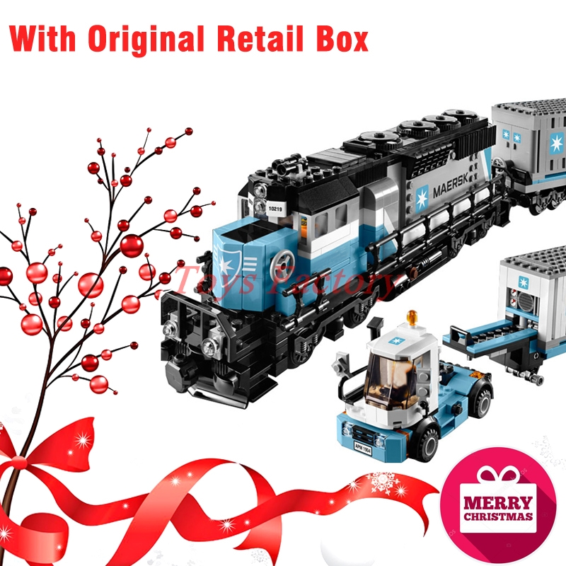 Christmas Gifts With Original Retail Box LEPIN 21006 1234 PCS  The Maersk Train Set Building Blocks Bricks Toys 10219 the girl with all the gifts