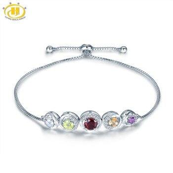 f2cf817b6ce4 MoBuy MBHI033 ojo forma Natural citrino piedras preciosas pulseras y  brazalete 925-esterlina-plata-joyería oro rosa fina cadena para las mujeres