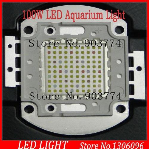 2016 Promotion précipitée 1 pcs/lot 100 w 50*2 w LED pour aquarium ampoule lumière minimaliste Multichip bricolage Buid spectre pour la croissance, 100 w grandir