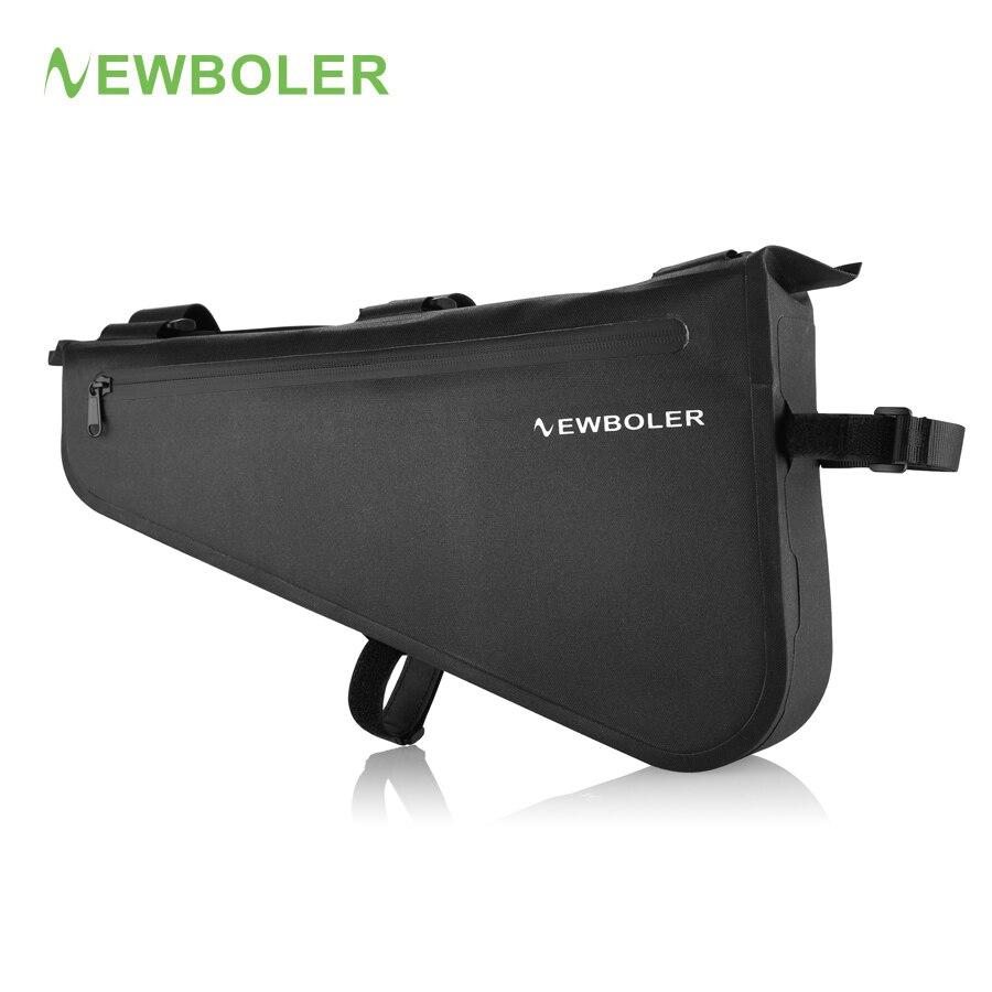 NEWBOLER Full Waterproof Bike Bag Large Capacity MTB Road Frame Bag Triangle Pouch Caulking Bicycle Bag Pannier Accessories