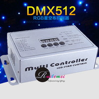 Multi DMX Channel Controller for Fireproof LED Star Cloth Curtain Background DJ Stage Backdrop Light Blue & White LED Star Light