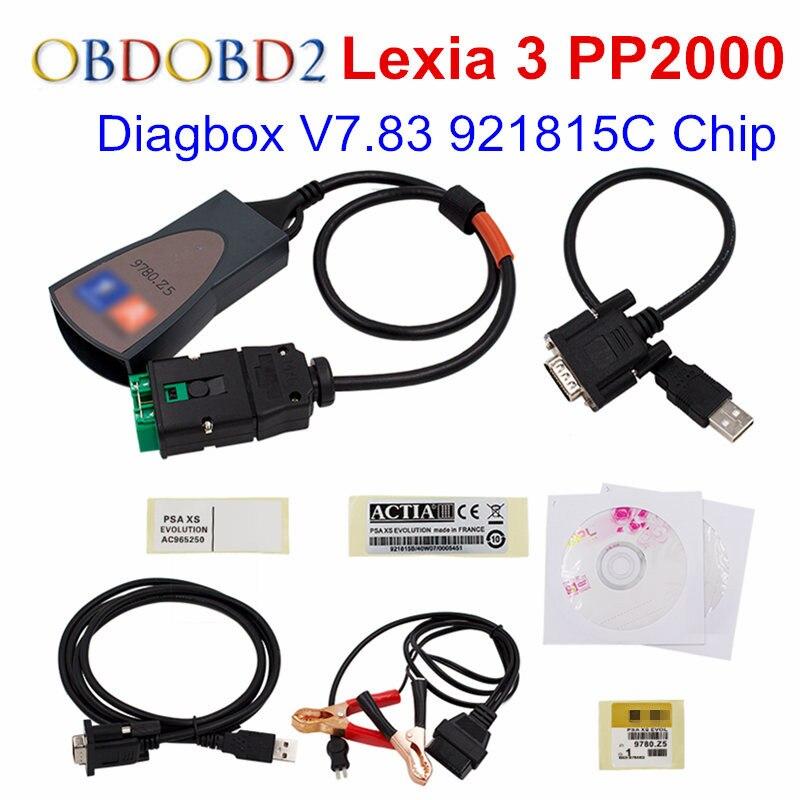 Lexia Lexia3 PP2000 Полный Чипсы с Diagbox V7.83 Lexia 3 прошивки 921815C Lexia 3 V48 V25 Lexia-3 OBD2 инструмент диагностики