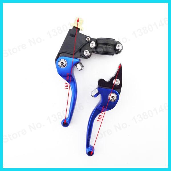 Складывающиеся тормозные Рычаги сцепления для мотоциклов+ синий рукоятки+ Топливные баки для мотоциклов Кепки Клапан Vent Сапун шланг трубки для китайский Пит Байк мотоцикл