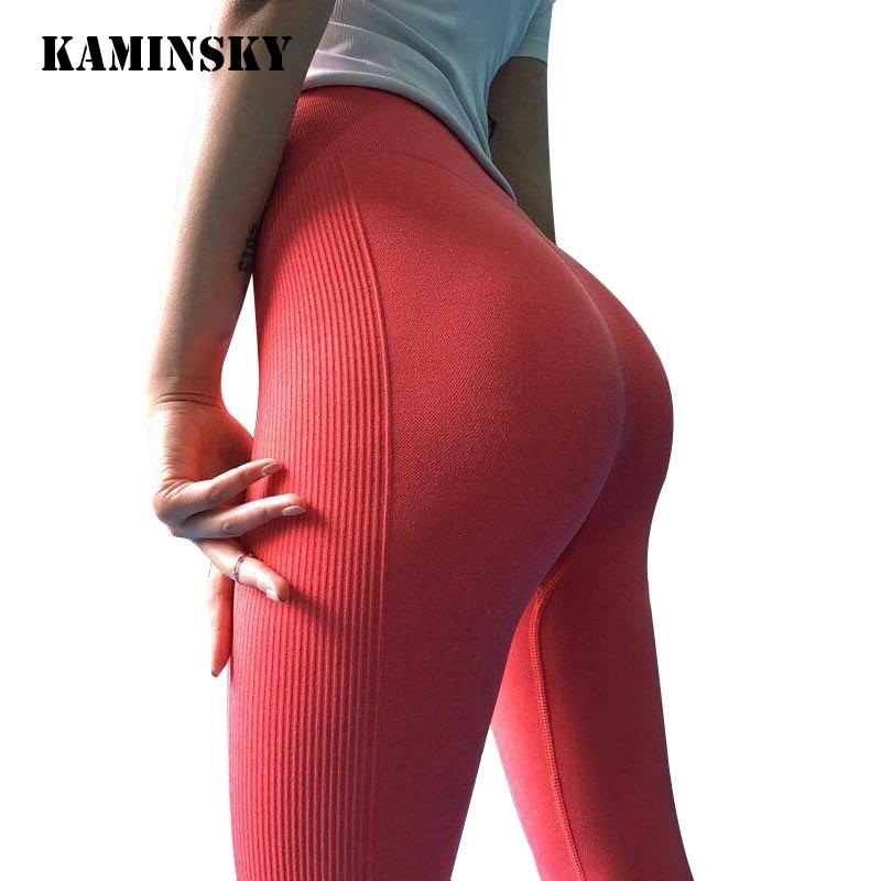 Kaminsky 10 Color Seamless   Legging   High Waist   Leggings   Women Push Up Fitness Pant   Legging   Elastic Workout   Legging   For Women