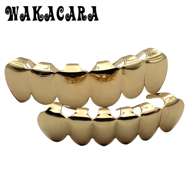 Bien connu Body Piercing Jewelry HIPHOP Dental Grillz Teeth Caps Grills Gold  JP51