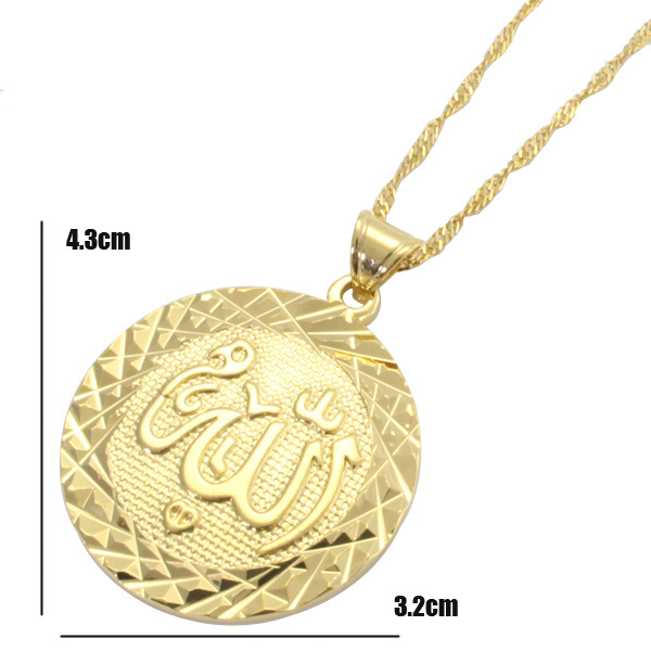 ALLAH MUSLIM round fashion pendant & necklace for women & men, charm Islam Gift & Jewelry