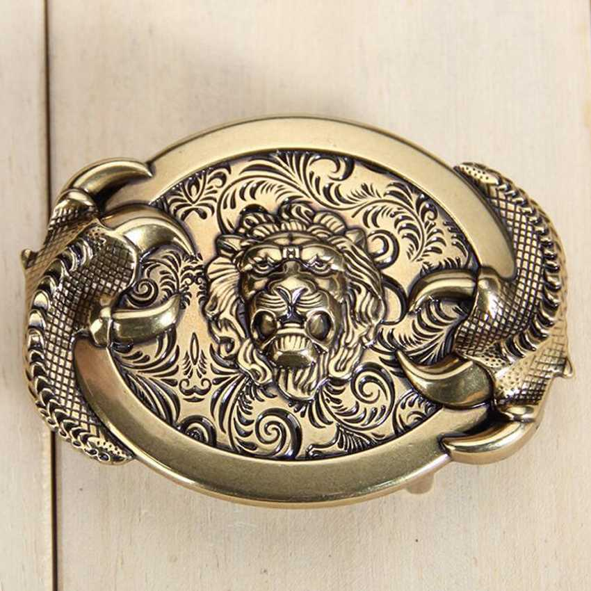 Bronze Belt Buckle ,Fashion Man's Belt Buckle ,width:5.5*7cm,Suitable For 3.3-3.8cm Belt Belt Agio 3D Animal Stud Vintage Agio