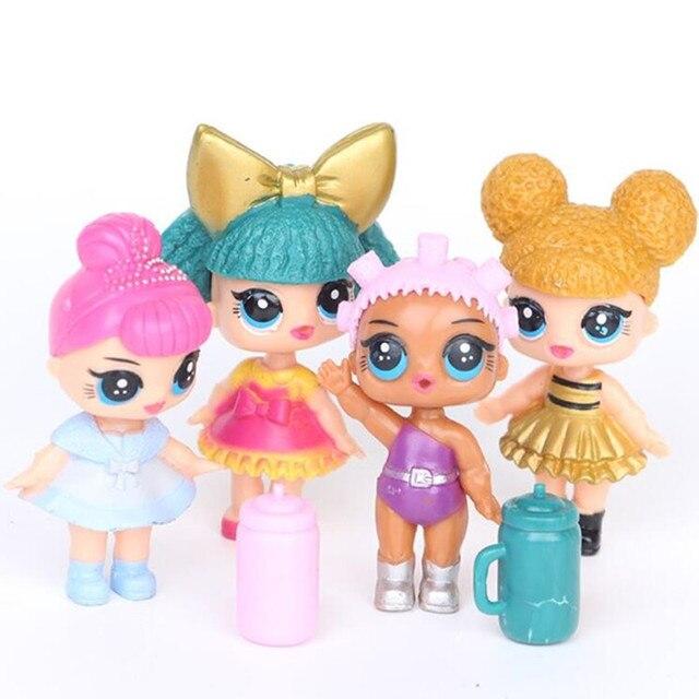 4 шт./LOL сюрприз Кукла фигурку игрушки модель девушка Игрушки для маленьких девочек подарок на день рождения
