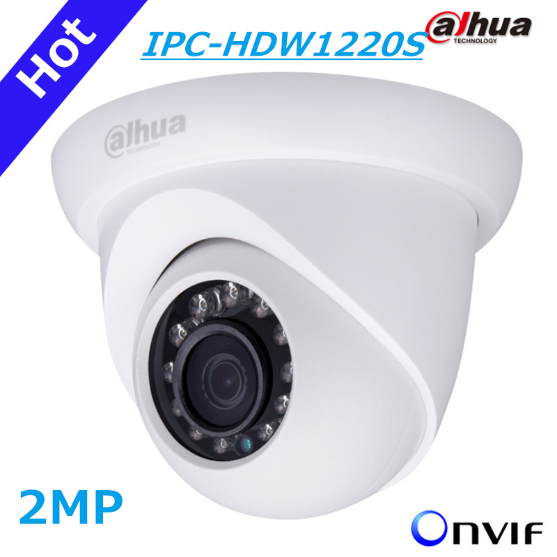 DAHUA  IP Camera IPC-HDW1220S 2MP Full HD Network Small IR Eyeball Camera HDW1220S IP67 Support POE and Onvif English version