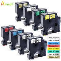 Airmall 45013 40913 45018 12mm compatível para dymo d1 fitas de impressora de etiquetas para dymo gerente de etiquetas 280 420 p dymo impressora de etiquetas