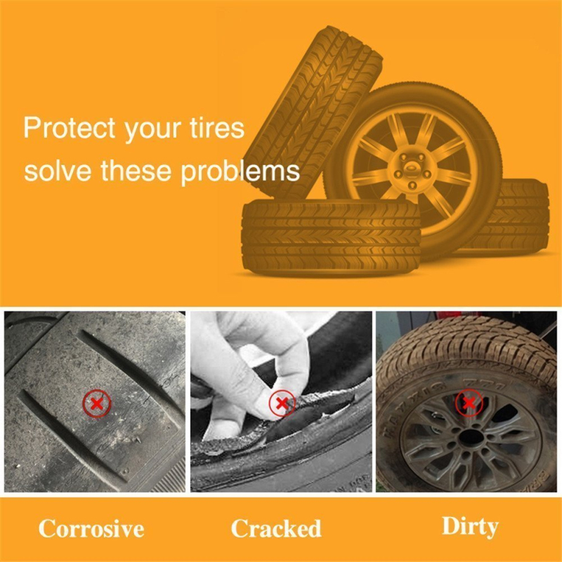 spareflying Set of 4 Tire Covers, Waterproof Aluminum Film Tire Sun Protectors,for 27 - 29 RV Auto Truck Camper Trailer Motorh