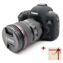 Ładne miękkie gumy silikonowej torba na aparat Canon EOS 5D4 5D Mark IV korpus aparatu ochronnego pokrywy skrzynka skóry dla Canon 5D 4 obiektyw...
