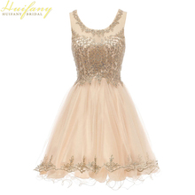 Short Sweet 16 Dresses Tulle with Gold Lace Applique Scoop Neck Junior