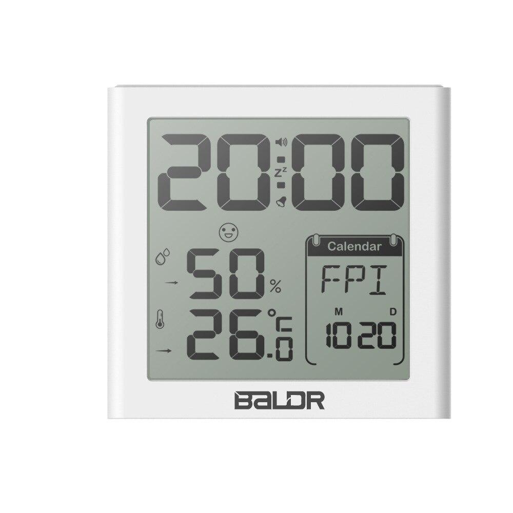 Spot New Digital Alarm Clock Backlight Sun and Moon Week Temperature and Humidity Comfort Smile Face Clocks