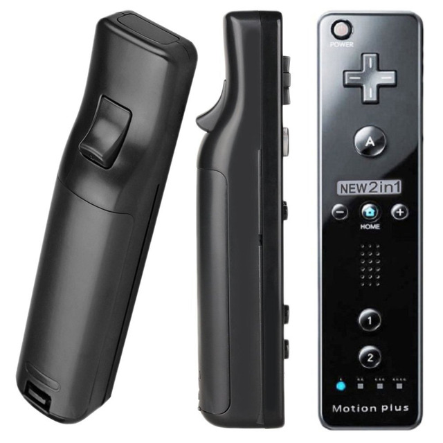 For Nintendo Wii 2 in 1 Wireless Remote Controllers Built-in Motion Plus Nunchuck for Gamepad Joystick Video Game Accessories