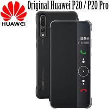 Huawei P20 pro Чехол clear view Smart touch view флип-чехол 100% оригинал официальный huawei P20 Pro кожа флип чехол для телефона принципиально