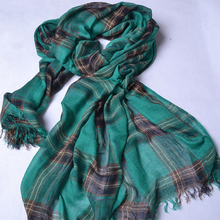 2016 Plaid Style Women Tartan Scarf Cotton Shawls and Scarves Soft Classical Stole Brand New