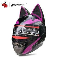 NITRINOS Motorcycle Helmet Men Women Personality Moto Helmet
