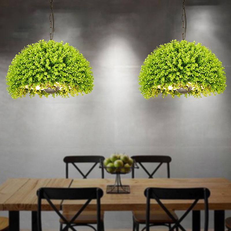 Simulated green plant Pendant Lights lamp Kitchen Restaurants Bar Decorative Home Lighting Fixture Creative Dining Room Lamp E27 pendant light modern pendant lights kitchen restaurants bar decorative home lighting fixture creative dining room lamp