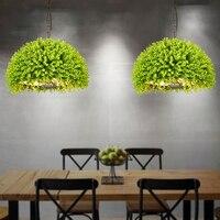 Simulated green plant Pendant Lights lamp Kitchen Restaurants Bar Decorative Home Lighting Fixture Creative Dining Room Lamp E27
