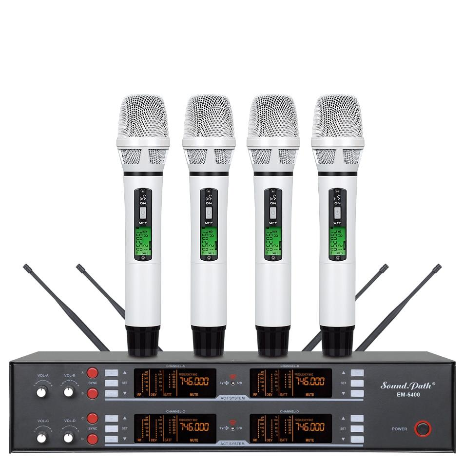 em 5400 professional wireless microphone system true diversity 4 handheld transmitter microphone. Black Bedroom Furniture Sets. Home Design Ideas