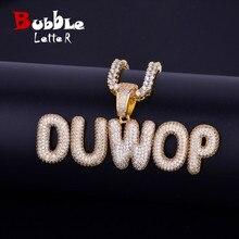Jewelry Pendant Necklaces Charm Name-Plates Tennis-Chain Bubble-Letters Custom Men's