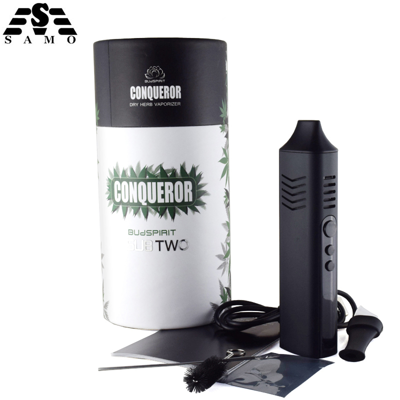 Original SubTwo Conqueror Electronic Cigarette Dry Herb Vaporizer Kits 2200mah Battery dry Herbal box mod e-cigarette vape pen