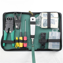 WLXY 11-in-1 Telecommunications Maintenance Diagnostic Tools Set, NS-468 Cable Tester 3 Way Crimper Tool, Cable Stripper