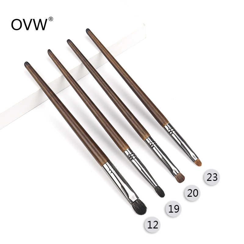 Кисть для теней для век OVW kist для brovey из натурального козьего волоса, набор кистей для макияжа в складку с единорогом